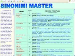 sinonimi master