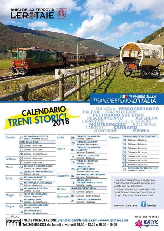 Calendario Treni Storici 2020.Ariafritta Eventi Calendario 2018 Dei Treni Storici Sulla